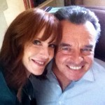 With Ray Wise on-set of Criminal Minds