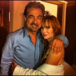 Jamie Rose with Joe Montegna on-set of Criminal MInds.