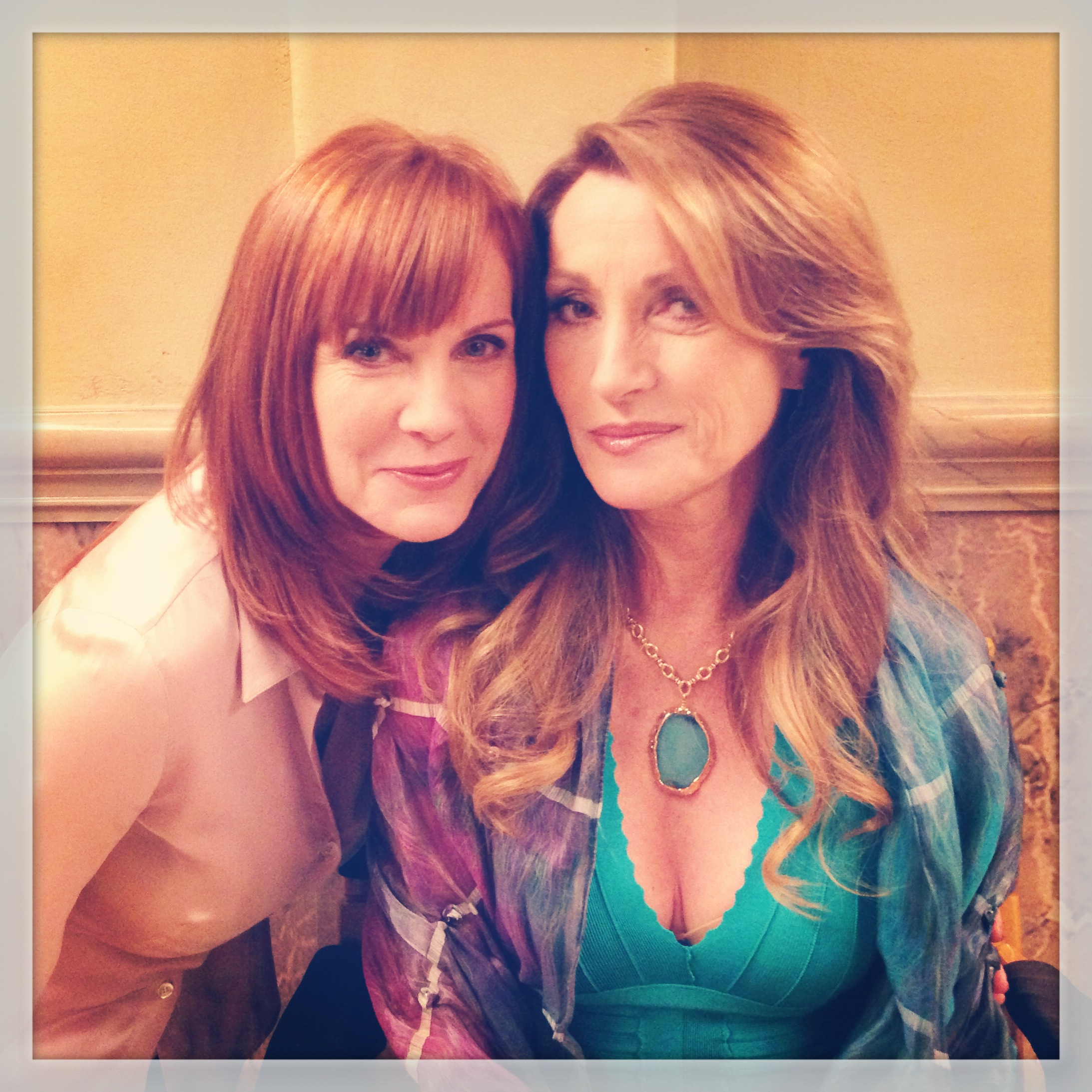 On set of Franklin & Bash with Jane Seymour